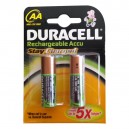 PILES RECHARGEABLES DURACELL AA 1950 MAH NI-MH PAR 2