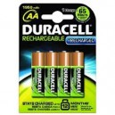 PILES RECHARGEABLES DURACELL AA 1950 MAH NI-MH PAR 4